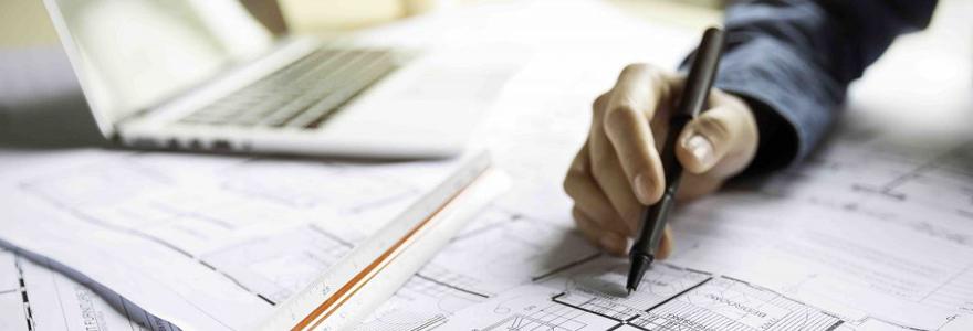 plan de votre future construction contemporaine